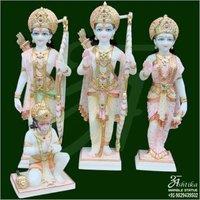 White Marble Ram Darbar Statue