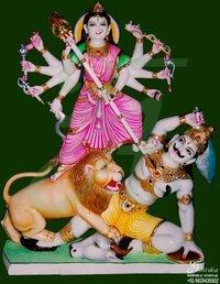 Marble Mahishasuri Mata Statue