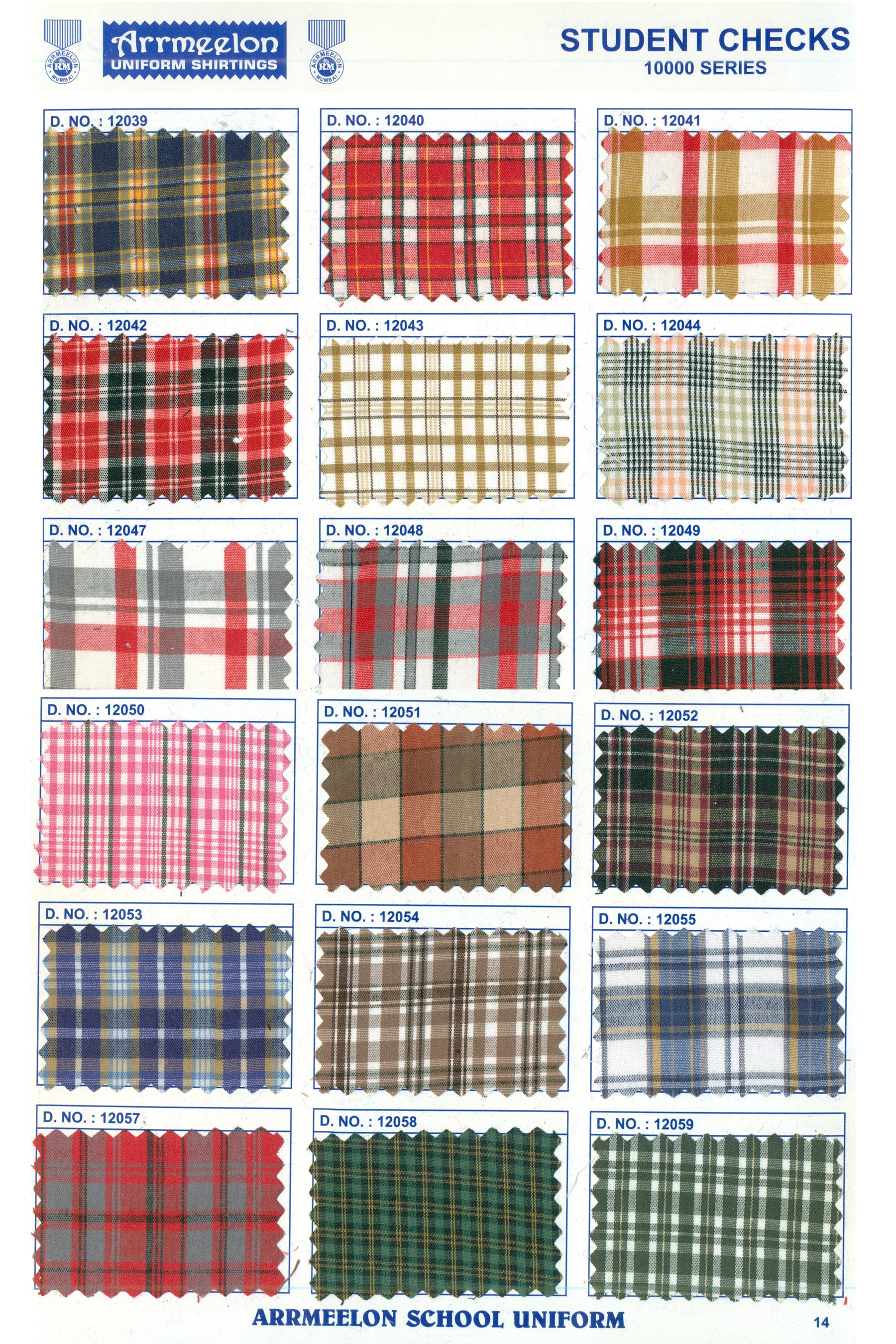Student Checks Fabrics