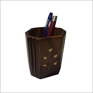 Wooden Pen Jar