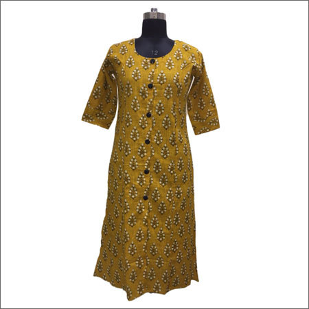 Long Sleeve Cotton Kurtis