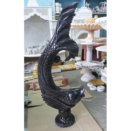 Bheslana Black Marble Fish Antique
