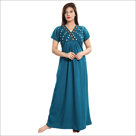 Ladies Cotton Designer Nighty