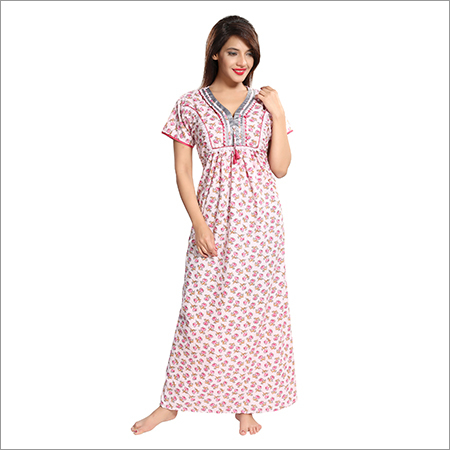 Ladies Pure Cotton Fancy Nighty