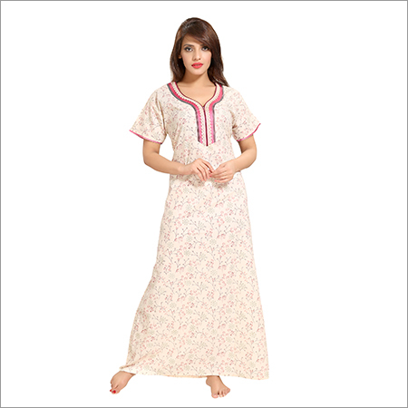 Ladies Pure Cotton Designer Nighty