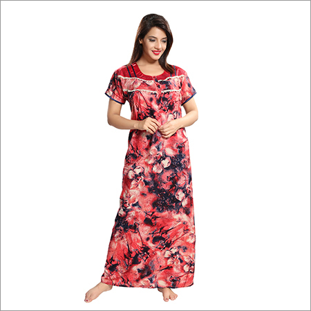 Ladies Rayon Printed Nighty