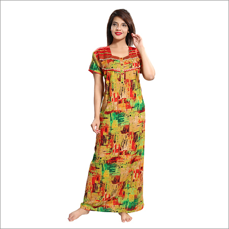 Ladies Rayon Fabric Nighty