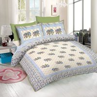 Cotton Rajasthani Print Bed Sheet