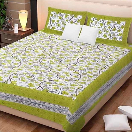 Designer Floral Print Bed Sheet