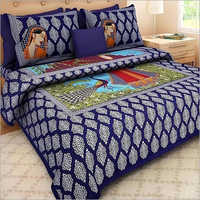 Designer Rajasthani Print Bed Sheet