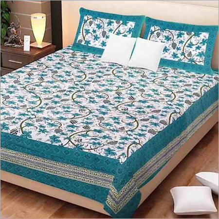 Cotton Floral Print Bed Sheet