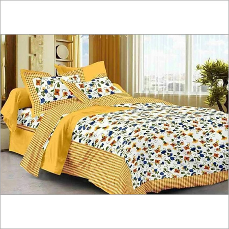 Floral Print Double Bed Sheet