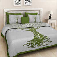 Cotton Tree Print Bed Sheet
