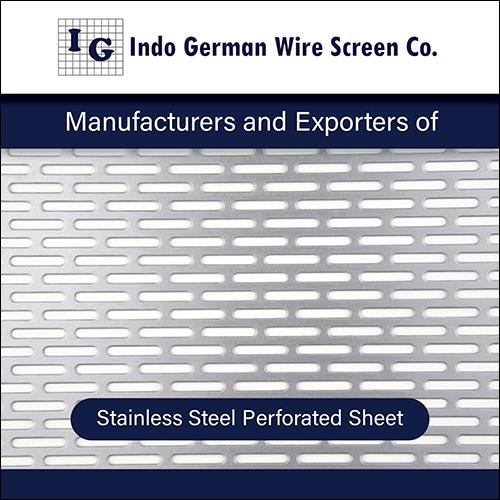 Rectangular Stainless Steel Perforated Sheet