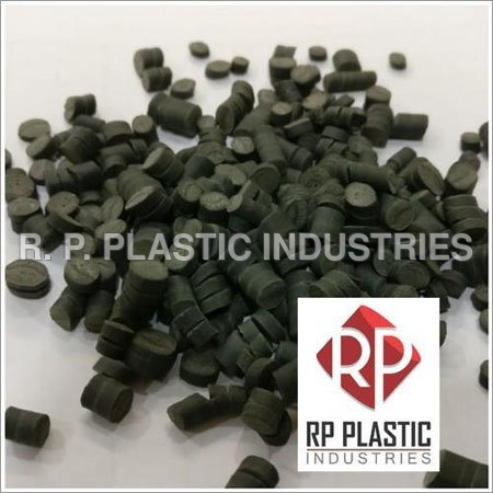 Reprocessed Rigid PVC Black Granules