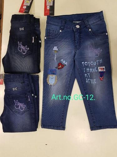 Girls Denim Jeans Capri