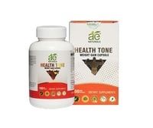 AE NATURALS Health Tone Weight Gain Capsules 100 Veg Caps