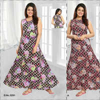 Ladies Printed Floral nighty
