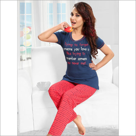 Ladies T-Shirt and Capri Night Set Dress