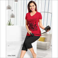 Women's T-Shirt and Capri Night Wear