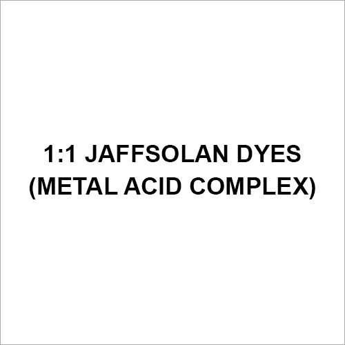1-1 Jaffsolan Dyes (Metal Acid Complex)