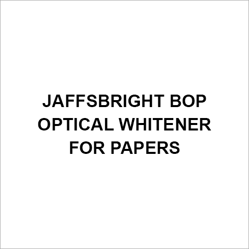 Jaffsbright BOP Optical Whitener For Papers