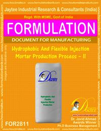 Hydrophobic & Flexible Injection Mortar Production Process –II