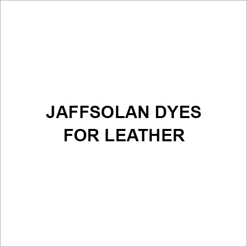Jaffsolan Dyes For Leather