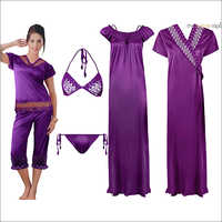 6 Piece Set Ladies Nighty