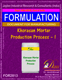 Khorasan Mortar Production Process – I