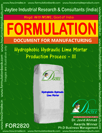 Hydrophobic Hydraulic Lime Mortar Production Process – III