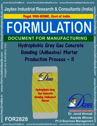 Hydrophobic Grey Gas Conc. Bonding (Adhesive) Mortar Production-II
