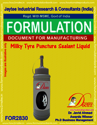 Milky Tyre Puncture Sealant Liquid