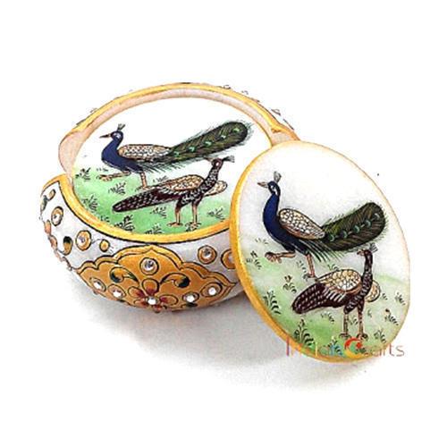 Marble Peacock Coaster