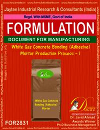 White Gas Concrete Bonding (Adhesive) Mortar Production Process