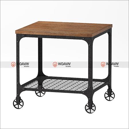 Industrial Side Wheel Table
