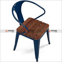 Tolix Bistro Wooden Armed Chair