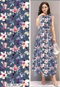 Linen Satin Digital Print Fabric