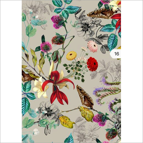 Muslin Digital Print Fabric
