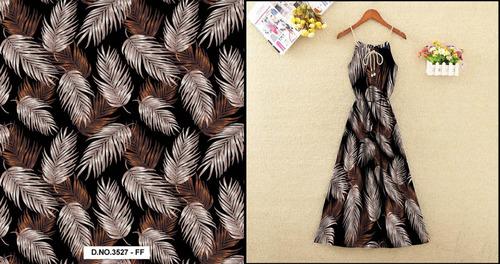 Moss Crepe Digital Print Fabric