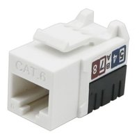 Cat.6 UTP 90 degree 110 Keystone Jack