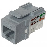 Cat6A UTP 90° 110 Punch Down Keystone Jack