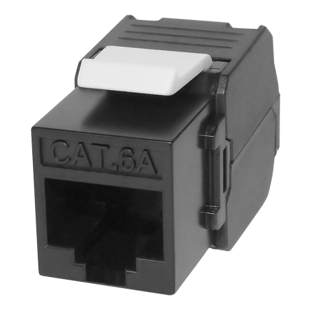 Cat6A UTP Component Level keystone jack