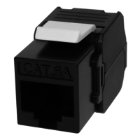Cat6A UTP Component Level keystone jack