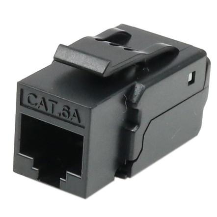 Cat6A UTP 90 degree toolless keystone jack
