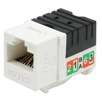 Cat6A UTP 90 degree 110 Keystone Jack