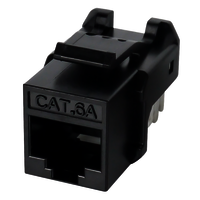 Cat6A UTP 90 degree punch down keystone jack