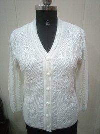 White Woolen Cardigan