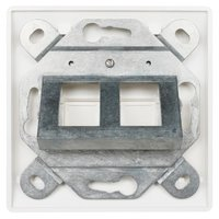 German Style Faceplate Single gang 2 port