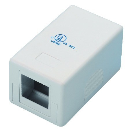 Surface mounting box 1 port